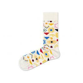 Happy Socks Sign Zokni Sárga Fehér