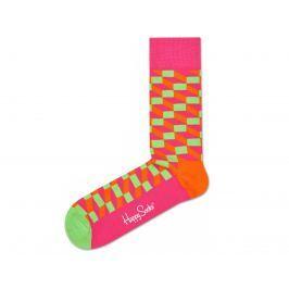 Happy Socks Filled Optic Zokni Rózsaszín Narancssárga