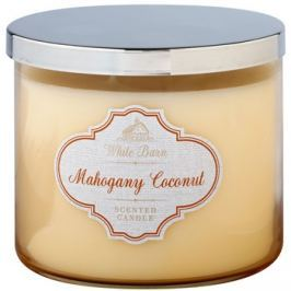 Bath & Body Works White Barn Mahogany Coconut illatos gyertya  411 g