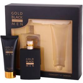 Concept V Gold Black ajándékszett I.  Eau de Toilette 100 ml + borotválkozás utáni balzsam 100 ml