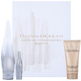 DKNY Liquid Cashmere White ajándékszett I.  Eau de Parfum 100 ml + Eau de Parfum 7 ml + testápoló tej 100 ml