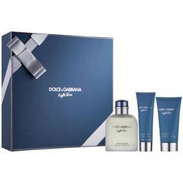 Dolce & Gabbana Light Blue Pour Homme ajándékszett I. Eau de Toilette 125 ml + tusfürdő gél 50 ml + borotválkozás utáni balzsam 75 ml