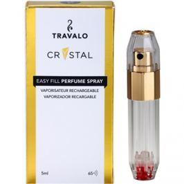 Travalo Crystal Gold szórófejes parfüm utántöltő palack unisex 5 ml