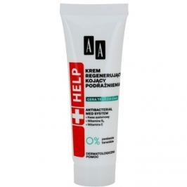 AA Cosmetics Help Acne Skin nyugtató éjszakai krém regeneráló hatással  40 ml