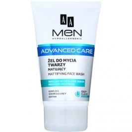 AA Cosmetics Men Advanced Care mattító tisztító gél az arcra  150 ml