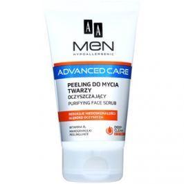AA Cosmetics Men Advanced Care tisztító peelinges gél az arcra  150 ml