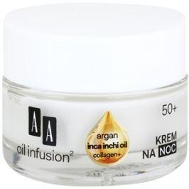 AA Cosmetics Oil Infusion2 Argan Inca Inchi 50+ éjszakai regeneráló krém remodellizációs hatással  50 ml