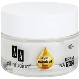 AA Cosmetics Oil Infusion2 Argan Tsubaki 40+ regeneráló éjszakai krém ránctalanító hatással  50 ml
