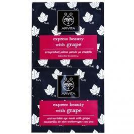 Apivita Express Beauty Grape Maszk a szem ráncok ellen  2 x 2 ml