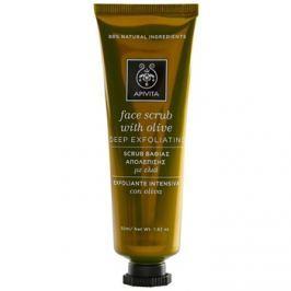 Apivita Express Beauty Olive mélytisztító peeling az arcra  50 ml