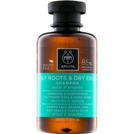 Apivita Holistic Hair Care Nettle & Propolis sampon zsíros fejbőrre és száraz hajvégekre  250 ml