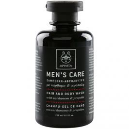 Apivita Men's Care Cardamom & Propolis sampon és tusfürdő gél 2 in 1  250 ml