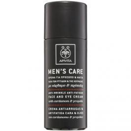 Apivita Men's Care Cardamom & Propolis ránctalanító krém az arcra és a szemekre  50 ml
