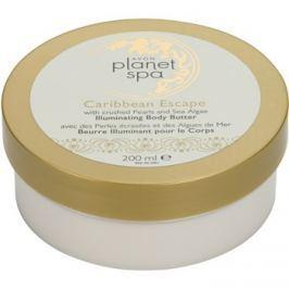 Avon Planet Spa Caribbean Escape bőrvilágosító testápoló krém tengeri alga és gyöngy kivonattal  200 ml