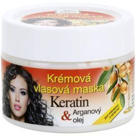 Bione Cosmetics Keratin Argan regeneráló maszk hajra hajra  260 ml
