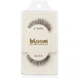 Bloom Natural ragasztható műszempilla természetes hajból No. 747S (Black) 1 cm