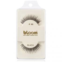 Bloom Natural ragasztható műszempilla természetes hajból No. 46 (Black) 1 cm
