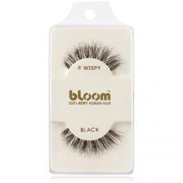 Bloom Natural ragasztható műszempilla természetes hajból (Wispy, Black) 1 cm