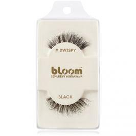 Bloom Natural ragasztható műszempilla természetes hajból (Dwispy, Black) 1 cm