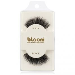 Bloom Natural ragasztható műszempilla természetes hajból No. 117 (Black) 1 cm