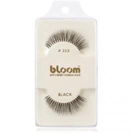Bloom Natural ragasztható műszempilla természetes hajból No. 213 (Black) 1 cm