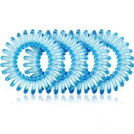 BrushArt Hair Rings Hajgumi 4 db Clear Blue 4 db