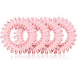 BrushArt Hair Rings Hajgumi 4 db Clear Pink 4 db