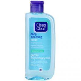 Clean & Clear Deep Cleansing mélyen tisztító arcápoló víz az érzékeny arcbőrre  200 ml