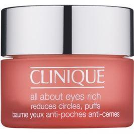 Clinique All About Eyes Rich hidratáló szemkörnyékápoló krém a duzzanatokra és a sötét karikákra  15 ml