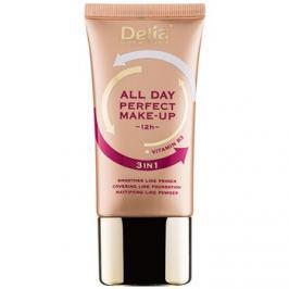 Delia Cosmetics All Day Perfect make-up 3 az 1-ben árnyalat 02 Sand Beige 30 ml