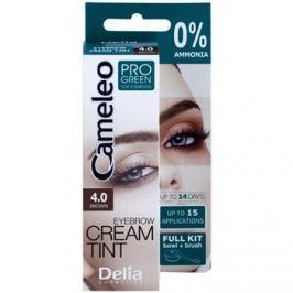 Delia Cosmetics Cameleo Pro Green szemöldökfesték ammónia nélkül árnyalat 4.0 Brown 15 ml