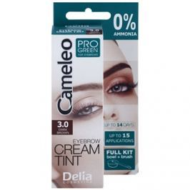 Delia Cosmetics Cameleo Pro Green szemöldökfesték ammónia nélkül árnyalat 3.0 Dark Brown 15 ml