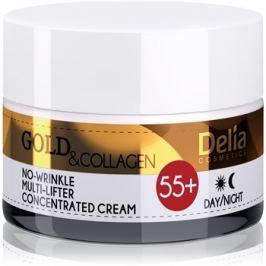 Delia Cosmetics Gold & Collagen 55+ ránctalanító krém lifting hatással  50 ml
