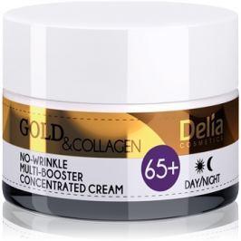 Delia Cosmetics Gold & Collagen 65+ ránctalanító krém regeneráló hatással  50 ml