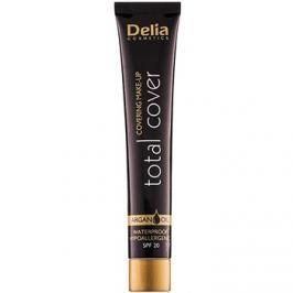 Delia Cosmetics Total Cover vízálló make-up SPF 20 árnyalat 53 Porcelain 25 g