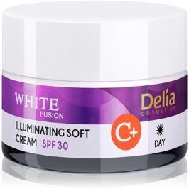 Delia Cosmetics White Fusion C+ bőrvilágosító nappali krém hiperpigmentes bőrre SPF30  50 ml