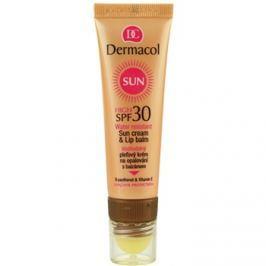 Dermacol Sun Water Resistant vízálló napozó arckrém ajakbalzsammal SPF30  30 ml