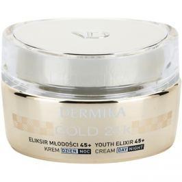 Dermika Gold 24k Total Benefit Luxus bőrfiatalító krém 45+  50 ml