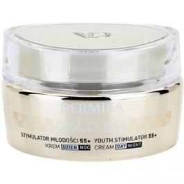 Dermika Gold 24k Total Benefit Luxus bőrfiatalító krém 55+  50 ml