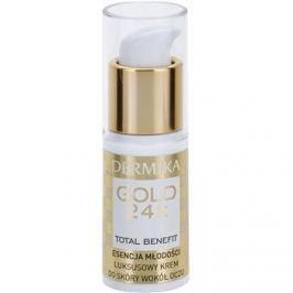 Dermika Gold 24k Total Benefit Luxus bőrfiatalító krém a szem köré  15 ml