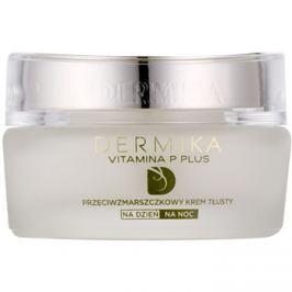 Dermika Vitamina P Plus tápláló ráncok elleni krém Érzékeny, bőrpírra hajlamos bőrre  50 ml