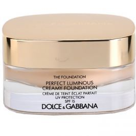 Dolce & Gabbana The Foundation Perfect Luminous Creamy Foundation élénkítő krémes make-up SPF 15 árnyalat 75 Bisque 30 ml