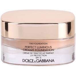 Dolce & Gabbana The Foundation Perfect Luminous Creamy Foundation élénkítő krémes make-up SPF 15 árnyalat 130 Honey 30 ml