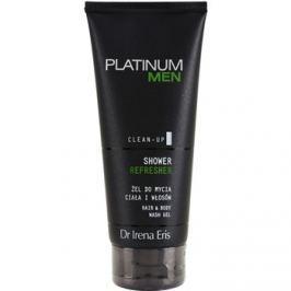 Dr Irena Eris Platinum Men Clean-Up felfrissítő tusfürdő gél testre és hajra  200 ml
