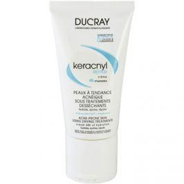 Ducray Keracnyl regeneráló és hidratáló krém a pattanások kezelése által kiszárított és irritált bőrre  50 ml