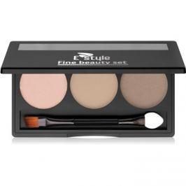 E style Fine Beauty paletta a szemöldök sminkeléséhez árnyalat 01 Light Brown 5,7 g