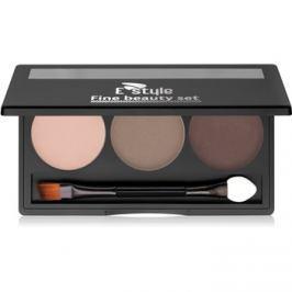 E style Fine Beauty paletta a szemöldök sminkeléséhez árnyalat 02 Medium Brown 5,7 g