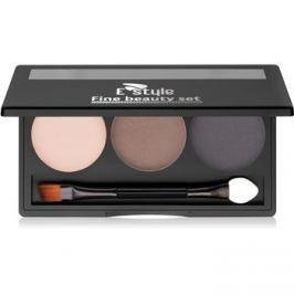 E style Fine Beauty paletta a szemöldök sminkeléséhez árnyalat 03 Dark Brown 5,7 g