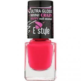 E style Mini Crazy neon műköröm lakk árnyalat 25 Pink 7 ml