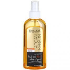 Eveline Cosmetics Argan + Keratin hajolaj 8 in 1  150 ml